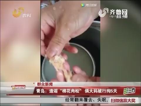 """【群众新闻】青岛:造谣""""棉花肉松""""俩大妈被行拘5天"""