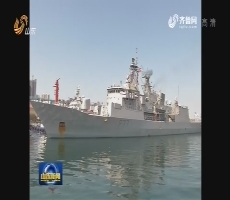 """新西兰海军""""特卡哈""""号护卫舰访问青岛"""