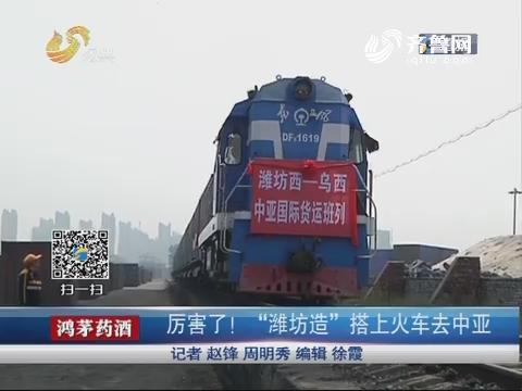 """厉害了!""""潍坊造""""搭上火车去中亚"""