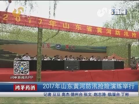 齐河:2017年山东黄河防汛抢险演练举行