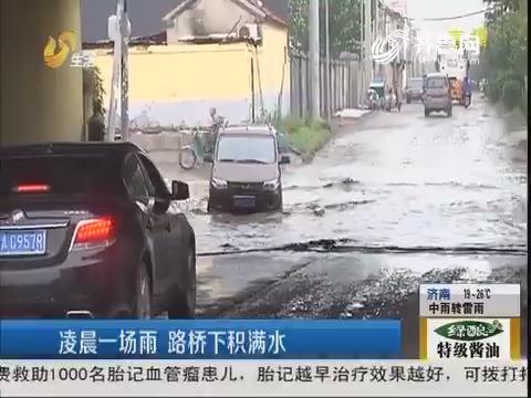 济南:凌晨一场雨 路桥下积满水