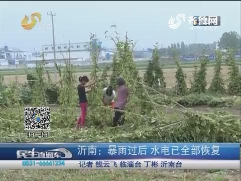 沂南:暴雨过后 水电已全部恢复