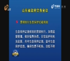 省政府召开常务会议 研究生态环保、文化惠民等工作
