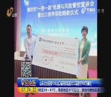 山东企业获得2017年出口信用保险最大单笔赔付900万美元