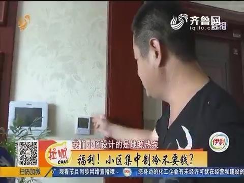 邹平:福利!小区集中制冷不要钱?