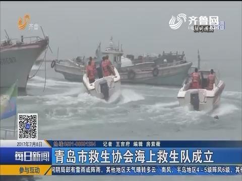 青岛市救生协会海上救生队成立
