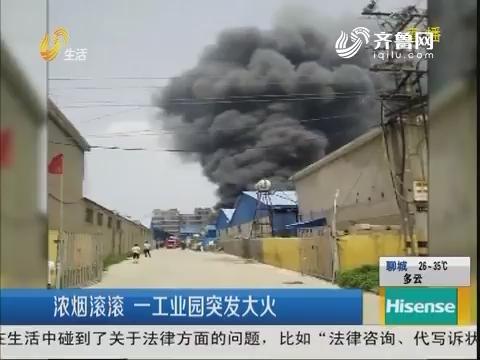 临沂:浓烟滚滚 一工业园突发大火