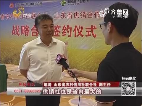 """省农信社 省供销社:双社联手 打造""""生产供销信用合作""""新航母"""