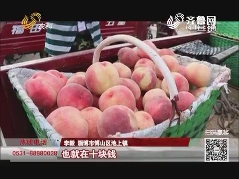 """【三方帮您办】淄博:桃子上市""""撞车""""难销 记者帮找买家"""