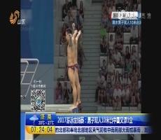 2017游泳世锦赛:男子双人10米台中国又添1金