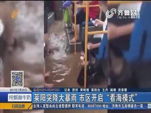 """莱阳突降大暴雨 市区开启""""看海模式"""""""