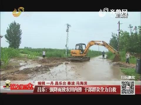昌乐:强降雨致农田内涝 干部群众全力自救