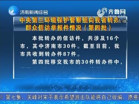 中央第三环境保护督察组向山东省转办群众信访举报情况(第四批)