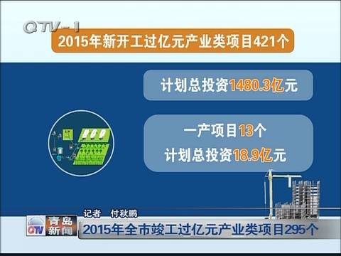 2015年全市竣工过亿元产业类项目295个