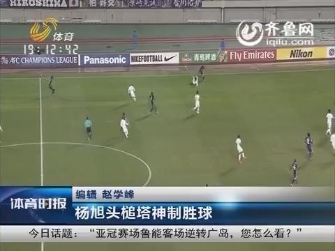 亚冠:鲁能客场2-1逆转广岛 杨旭头槌塔神制胜球