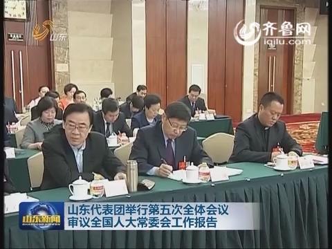 山东代表团举行第五次全体会议 审议全国人大常委会工作报告