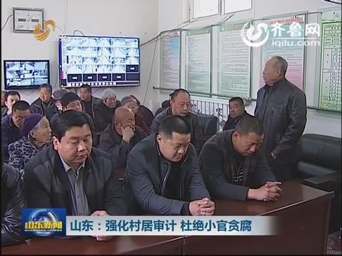山东:强化村居审计 杜绝小官贪腐