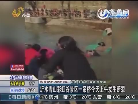 沂水雪山彩虹谷景区一吊桥3月26日上午发生断裂