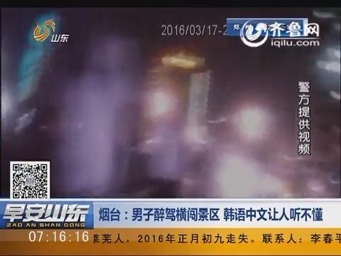 烟台:男子醉驾横闯景区 韩语中文让人听不懂