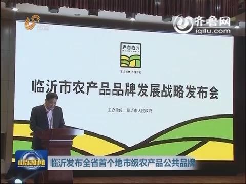 临沂发布山东省首个地市级农产品公共品牌