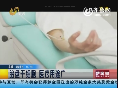 青岛:胎盘干细胞 医疗用途广