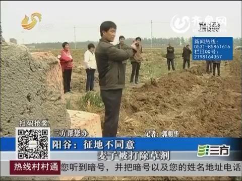 【三方帮您办】阳谷:征地不同意 麦子被打除草剂
