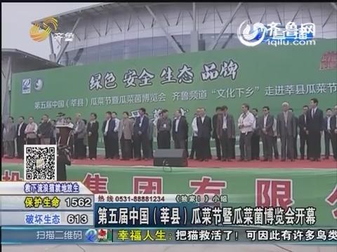第五届中国(莘县)瓜菜节暨瓜菜菌博览会开幕