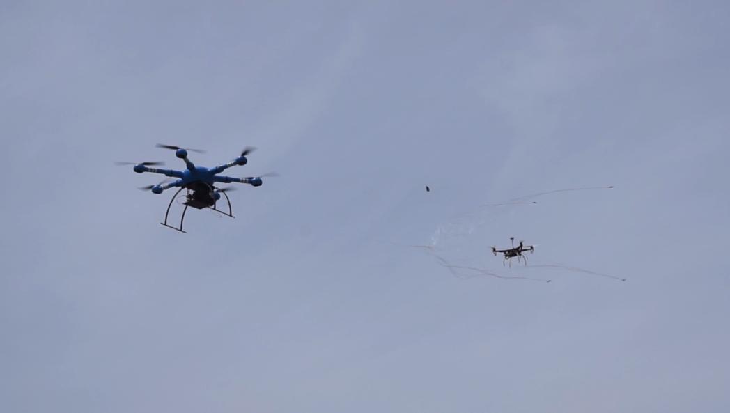 全国首部小型无人机捕获器青岛推出