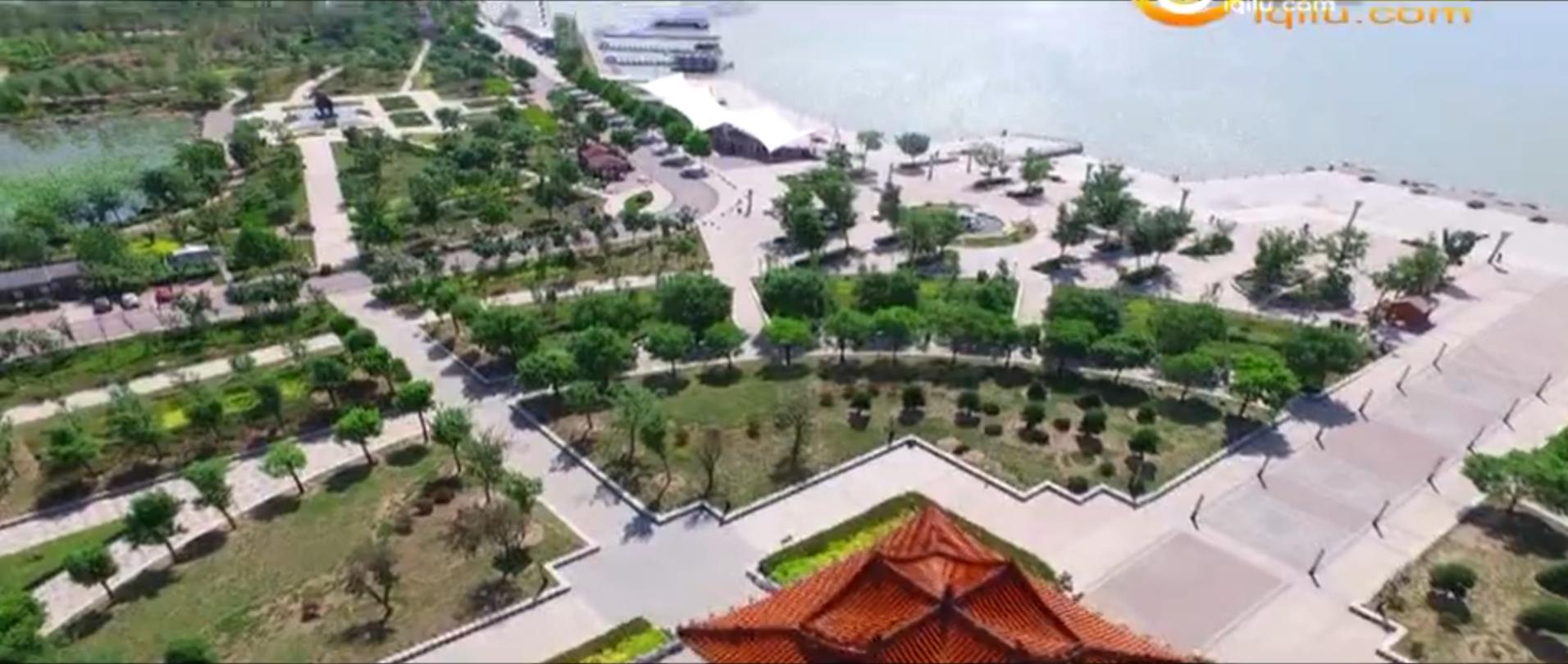 航拍济宁:太白湖绿树成荫 风光旖旎