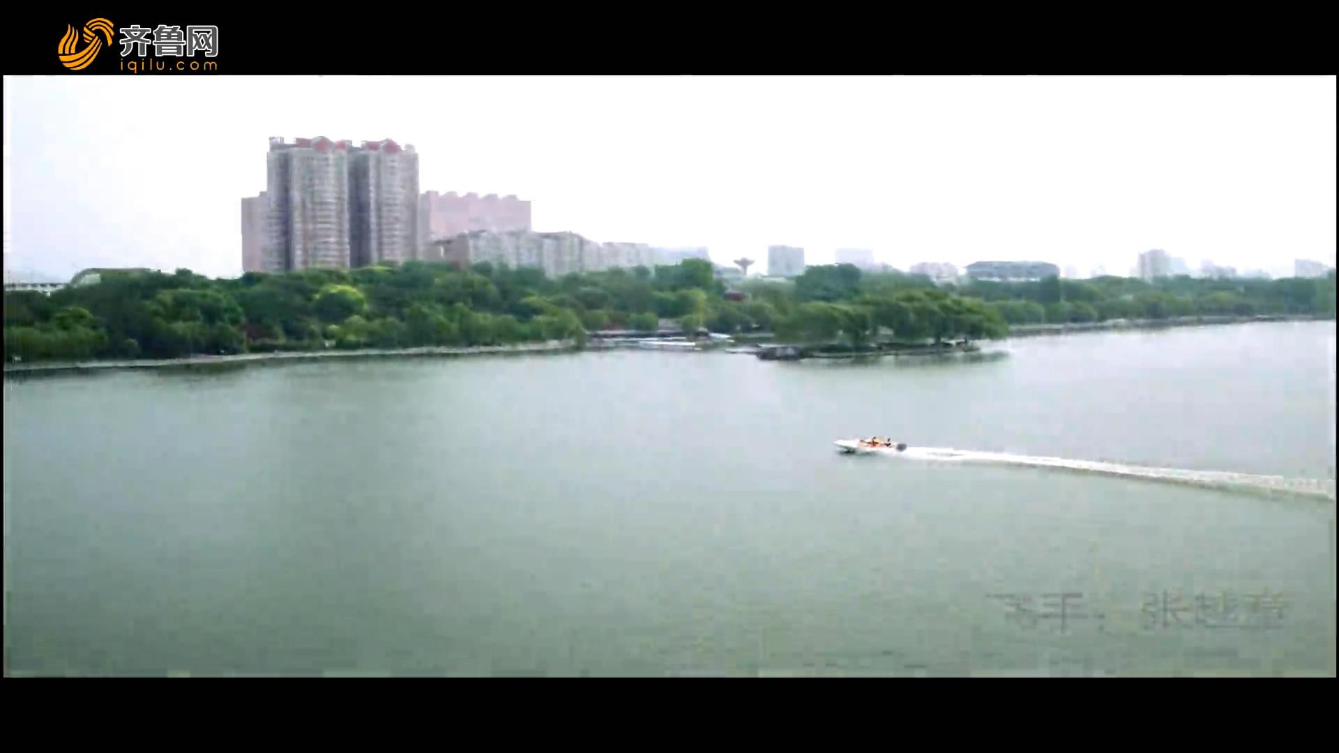 航拍盛夏大明湖