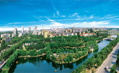 无人机独特视角航拍写意菏泽 城市美景尽收眼底