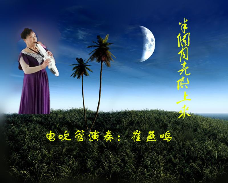 电吹管演奏:半个月亮爬上来(音画)