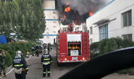德州宇虹化工企业院内发生火灾  无人员伤亡