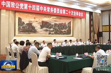 中国致公党第十四届二十次中常会在济南举行
