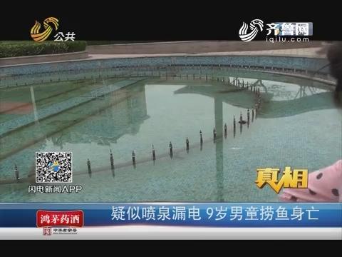 【真相】济南:疑似喷泉漏电 9岁男童捞鱼身亡