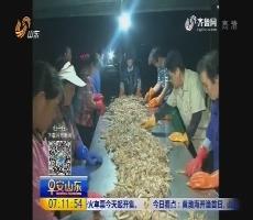 龙口:开渔第一网 渔民喜丰收