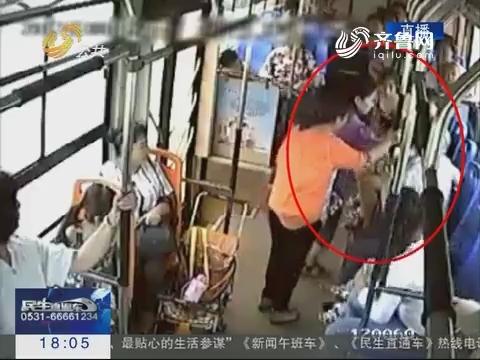 济宁:男童公交车上突发疾病