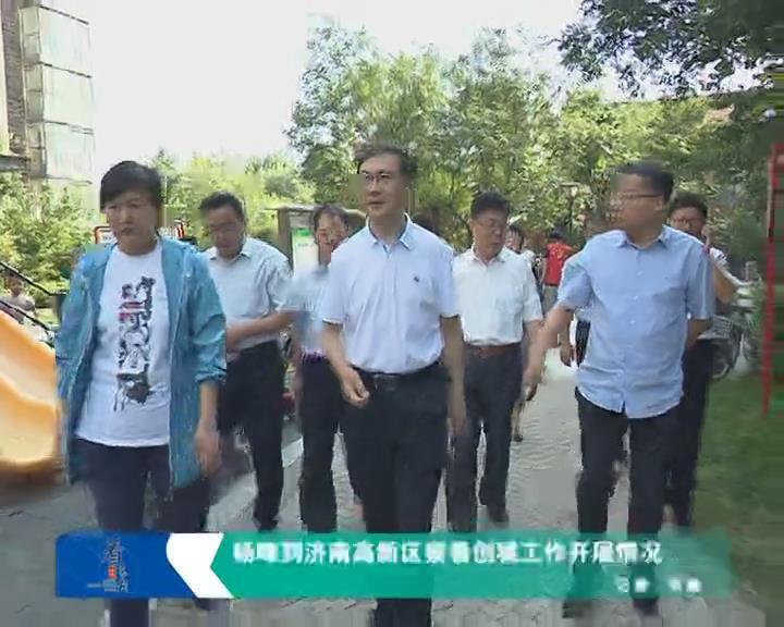杨峰到济南高新区察看创城工作开展情况