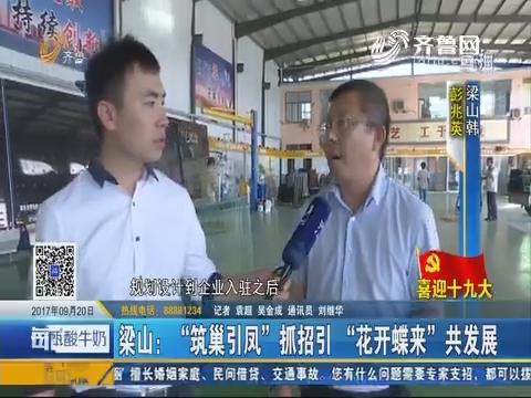 """【喜迎十九大】梁山:""""筑巢引凤""""抓招引 """"花开蝶来""""共发展"""