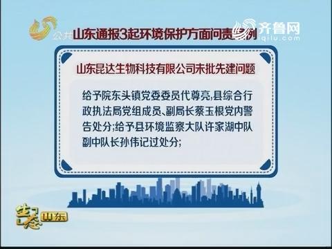 山东通报3起环境保护方面问责案例