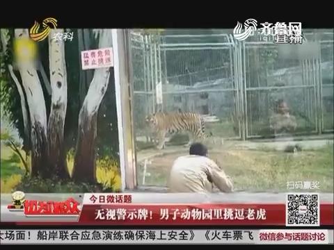【今日微话题】无视警告牌!男子动物园里挑逗老虎
