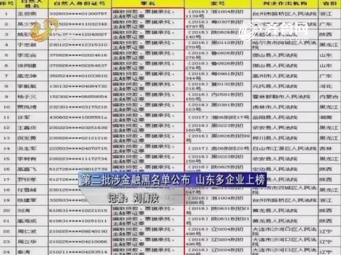 【天平之光】第二批涉金融黑名单公布 山东多企业上榜