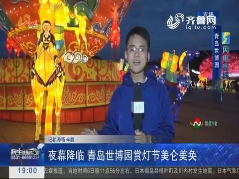 闪电连线:夜幕降临 青岛世博园赏灯节美轮美奂
