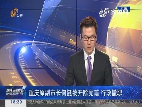 重庆原副市长何挺被开除党籍 行政撤职