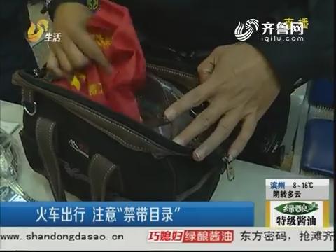 """济南:火车出行 注意""""禁带目录"""""""