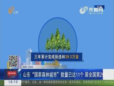 """山东""""国家森林城市""""数量已达11个 居全国第2位"""