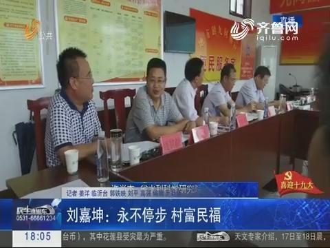 【喜迎十九大】临沂:刘嘉坤永不停步 村富民福