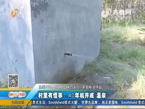 """潍坊:村里有怪事!40年机井成""""温泉"""""""