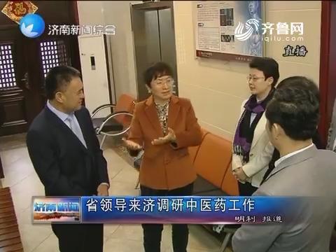 山东省领导来济南调研中医药工作