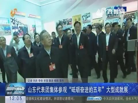 """山东代表团集体参观""""砥砺奋进的五年""""大型成就展"""